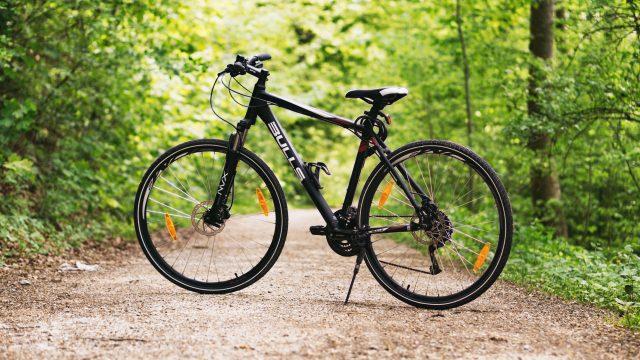 bike alone, vlunerable to be stolen
